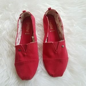 Mad Love Women's red loafers